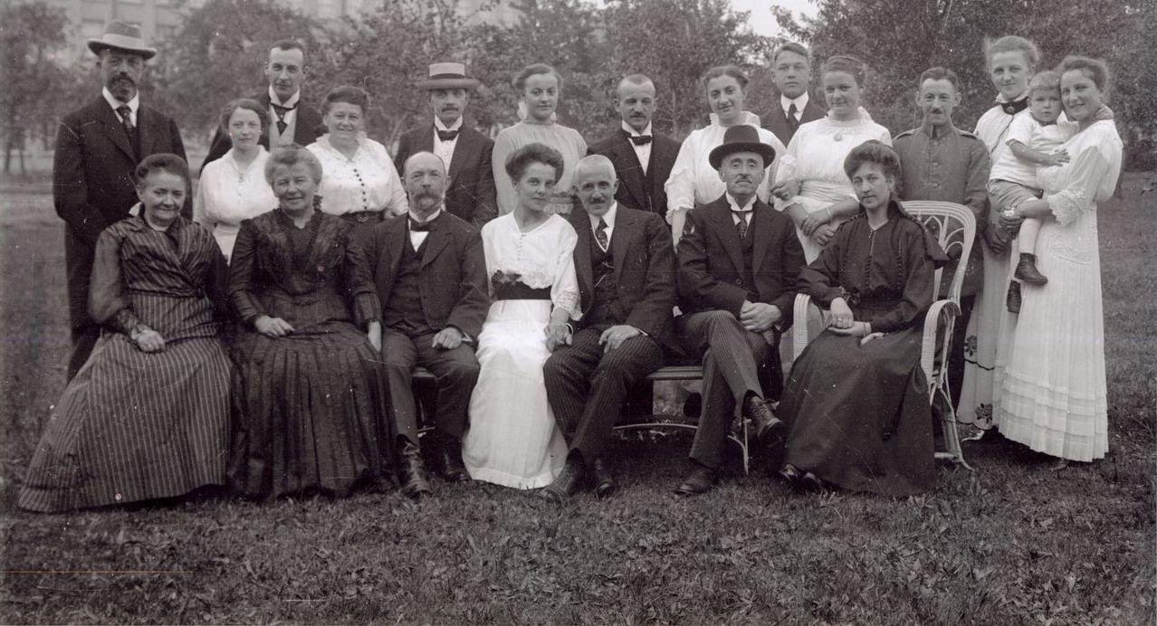 Verlobung Marie Bahner und Wilhelm Abel, Oberlungwitz Sommer 1916